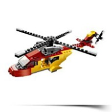 Creator Rotor Rescue 3IN1 Helicopterbiplanespeedboat