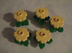 lego creator yellow flowers green leaves